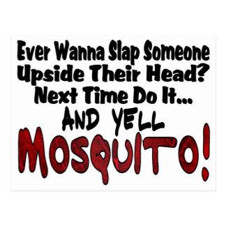 Cartão Postal Golpeie me & o mosquito