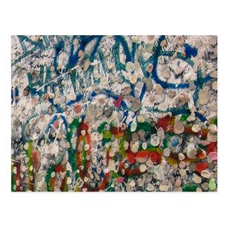 Cartão Postal Goma e grafites do muro de Berlim