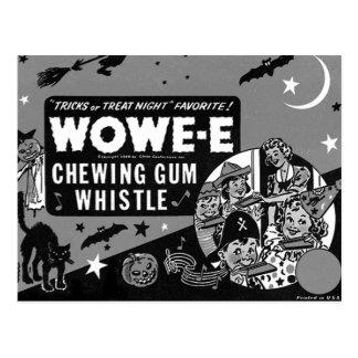 Cartão Postal Goma o Dia das Bruxas da cera de Wowee do vintage