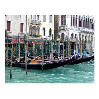 Cartão Postal Gôndola do canal grande