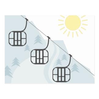 Cartão Postal Gôndola do esqui