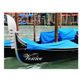 Cartão Postal Gôndola em Veneza, Italia