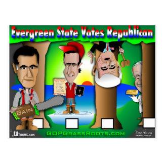 Cartão Postal GOP verde do estado