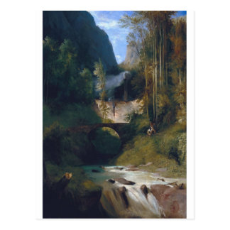 Cartão Postal Gorge perto de Amalfi - 1831 por Carl Blechen