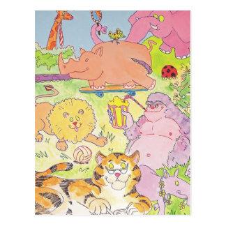 Cartão Postal Gorila e o grupo!