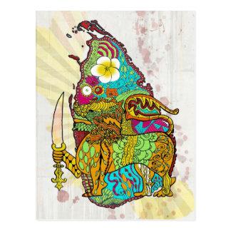 Cartão Postal Gota do rasgo do Oceano Índico