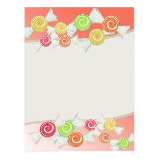 Cartão Postal Gotas dos doces