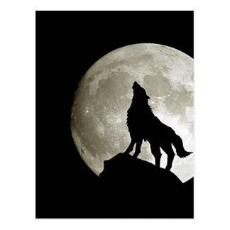 Cartão Postal Gothic Wolf