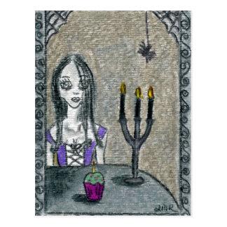 Cartão Postal Gótico o Dia das Bruxas
