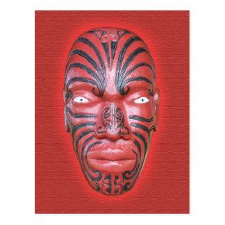 Cartão Postal Governante sem poder maori da canoa da guerra -