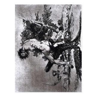 Cartão Postal Goya, este é gravura a água-forte 1812-15 e uma
