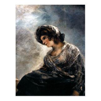 Cartão Postal Goya, Milkmaid do óleo do Bordéus 182527 no canva