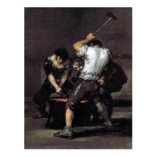 Cartão Postal Goya, o óleo da forja C. 1819 nas canvas, 191 x