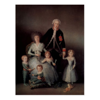 Cartão Postal Goya y Lucientes, Francisco de Portr? der Familie
