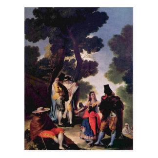 Cartão Postal Goya y Lucientes, und de Francisco de Maya morre
