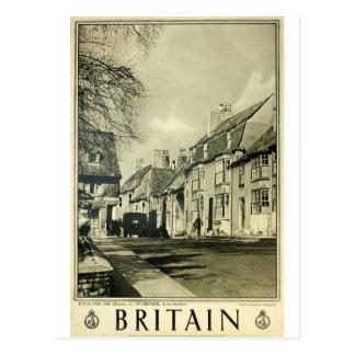 Cartão Postal Grâ Bretanha - poster das viagens vintage