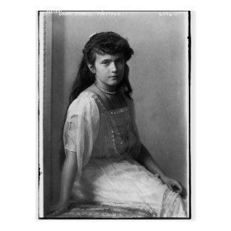 Cartão Postal Grã-duquesa Anastasia Nikolaevna de Rússia