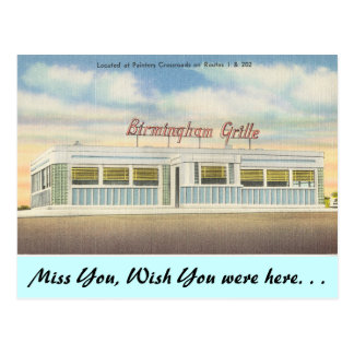 Cartão Postal Grade de Delaware, Birmingham