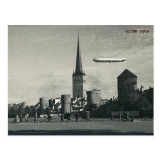 Cartão Postal Graf Zepelim em Tallinn