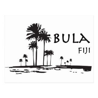 Cartão Postal Gráfico da palmeira de Bula Fiji