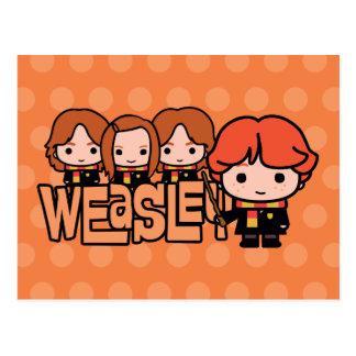Cartão Postal Gráfico de Weasley Siblilings dos desenhos