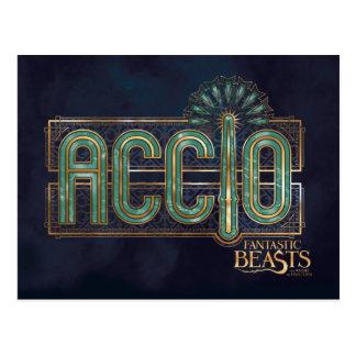 Cartão Postal Gráfico do período de Accio do art deco do jade
