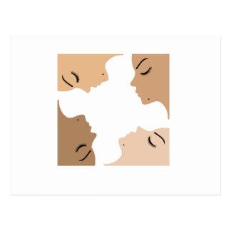 Cartão Postal Gráfico que mostra a unidade entre mulheres