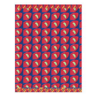 Cartão Postal Gráficos coloridos Digitas Fineart dos padrões