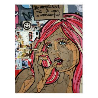 Cartão Postal Grafites, Berlim, Alemanha