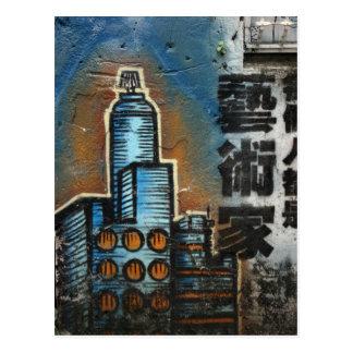 Cartão Postal Grafites da cidade de Taipei, Taipei, Formosa