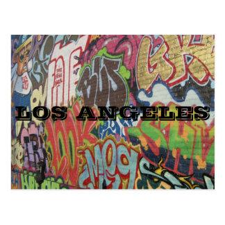 CARTÃO POSTAL GRAFITES DE LOS ANGELES
