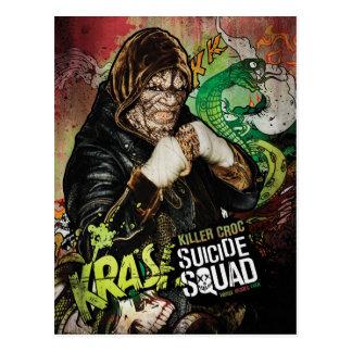 Cartão Postal Grafites do caráter de Croc do assassino do