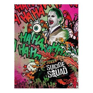 Cartão Postal Grafites do caráter do palhaço do pelotão | do