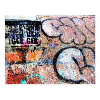 Cartão Postal Grafites Skateboarding legal na parede