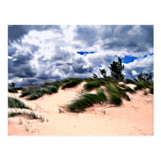 Cartão Postal Grama da duna do Sandy Beach