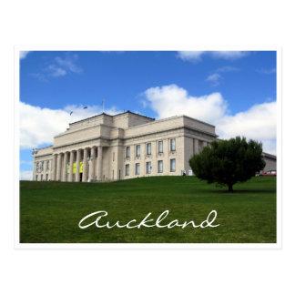 Cartão Postal gramado do museu de auckland