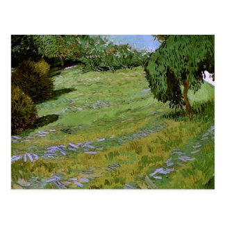Cartão Postal Gramado ensolarado em belas artes de Van Gogh do