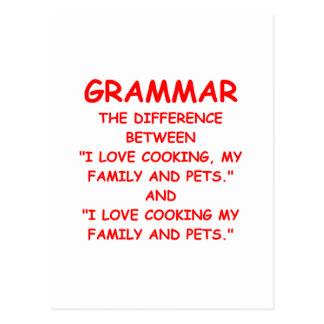 Cartão Postal gramática