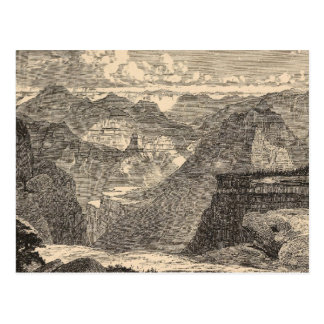 Cartão Postal Grand Canyon, anfiteatro, montículos Sculptured