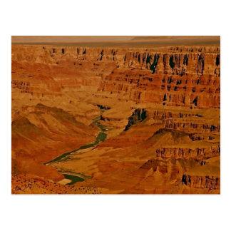 Cartão Postal Grand Canyon, o Rio Colorado