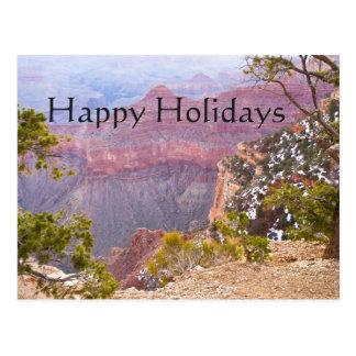 Cartão Postal Grand Canyon sul da borda, boas festas