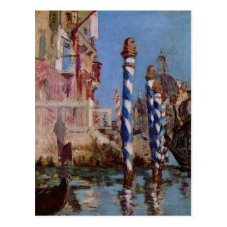 Cartão Postal Grande canal em Veneza - Edouard Manet