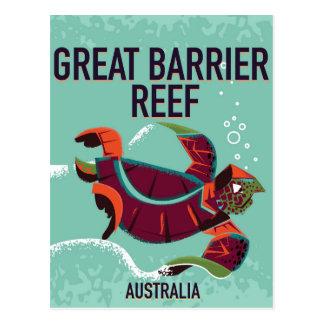 Cartão Postal Grande cartaz das viagens vintage do recife de