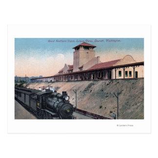Cartão Postal Grande depósito do norte 2 da estrada de ferro
