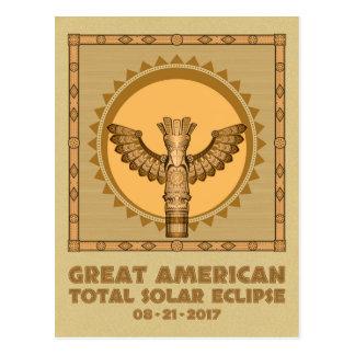 Cartão Postal Grande eclipse solar total americano - 2017