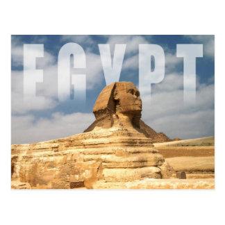 Cartão Postal Grande esfinge de Giza em Egipto
