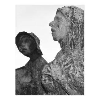 Cartão Postal Grande fome de estátuas de Ireland em Dublin