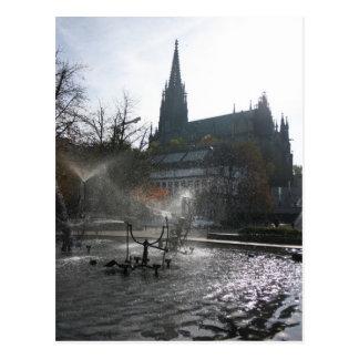 Cartão Postal Grande fonte de Tinguely do iluminador, Basileia