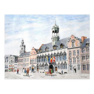 Cartão Postal Grande-Lugar do La, Mons, Bélgica