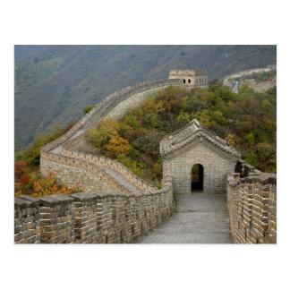 Cartão Postal Grande Muralha de China em Mutianyu